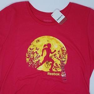 *Reebok Womens Tshirt Running Pink XL
